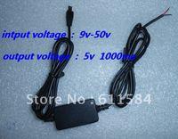 50pcs/lot hard wired car charger  for gps tk102 input voltage 9V-50V output 5V
