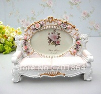 "New Arrival! 5 x 3.5"" Sofa Chair Design Photos Frames with Rose Flower Decoration Resin Craft Sweety Gift Free Shipping"