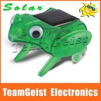 New Item! Solar Capering Frog Toys, solar Energy toys, best educational gift for children, Christmas gift Free shipping