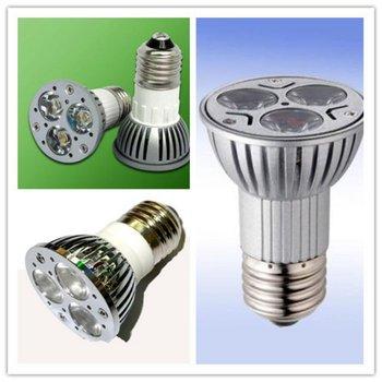 Round Free shipping by DHL 9W E27 Dimmable LED Bulds Spotlight LED 3x3W VS 50W 45degree E27 9W LED 85V-265V Spotlight 600Lm