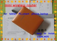 portable mini wireless router for smart phone, tablet PC,laptop,wireless device.convenient for traving