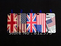 for ipod touch 5 case , normal Retro design UK US flag hard back case For New ipod Touch 5