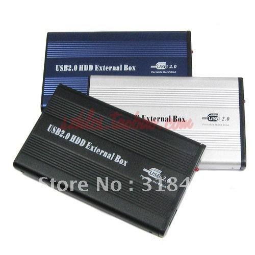 Free shipping 2.5 inch IDE to USB 2.0 HDD Enclosure / Box / case Good prices drop shipping(China (Mainland))