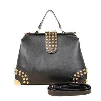 New Star Bags!2012 Hot New Design Women Fashion Rivet Motorcycle Handbags Retrpo Doctor Shoulder Bag PU Leather Women NB078