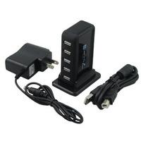 Powered USB High Speed 2.0 USB Extension Hub  7 ports Tower usb hub belt power supply