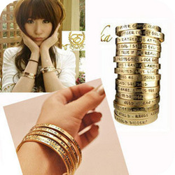 min order $15 fashion letter talking implied meaning Wishing bracelets wholesale(China (Mainland))