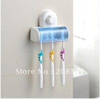 Free Shipping! MOQ=1PC, Set 5 Toothbrush Holder Stand Rack Bathroom Accessory