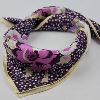 100% silk crepe satin mulberry silk small square scarf 52*52cm cheap price 2pcs/lot