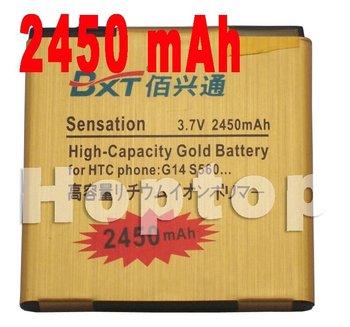 GOLD 2450mAh Business battery For HTC Sensation 4G G14 Z710E Mytouch 4G Slide Sensation XE Z715E EVO 3D Shooter Amaze 4G
