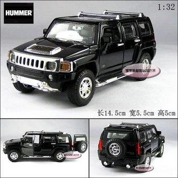 Uni-fortune humvees 2007 hummer h3 black alloy car models plain