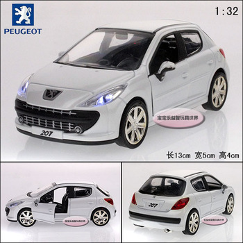 Pulchritudinous peugeot 207 white alloy car model plain