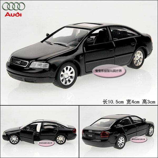 High speed AUDI a6 black exquisite two open door WARRIOR baby alloy car model