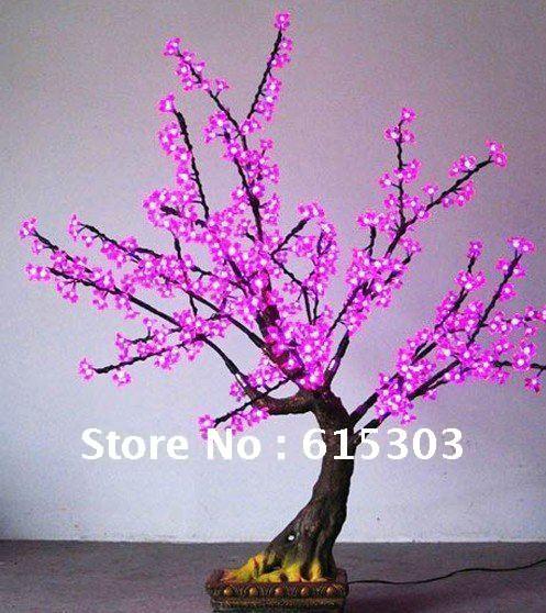 Wedding background 220V LED Cherry Trees Simulation for christmas lights(China (Mainland))