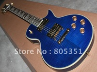 Wholesale 2012 NEW Arrival Music Custom Guitar electric guitar blue Free shipping