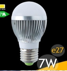 7w led bulb light 110V /220V dimmable 5630 smd 2012 new prducts(China (Mainland))