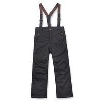 free shipping Detachable fleece liner unisex black waterproof suspenders winter children trousers