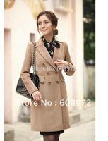 LADIES HOT SALE WOOLEN COAT,OUTERWEAR FREE SHIPPING,Women's Winter coat,Fashion slim long overcoat