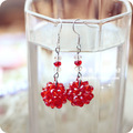 Hot sale hand-made imitation Crystal diy beads wholesale multicolor stud earrings
