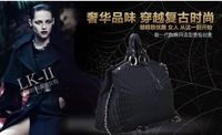 2012 autumn winters of kraft with nylon fashion leisure female BaoLing lattice creative dermal bale 0260