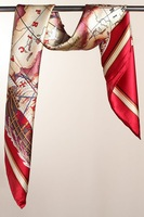 88x88cm 2012 mulberry silk red large facecloth silk scarf cape Free Shipping