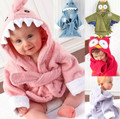 Hot!Retail boy girl Animal Baby bathrobe/baby hooded bath towel/kids bath terry children infant bathing/baby robe honeyBaby HB28(China (Mainland))