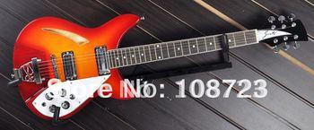 Wholesale - On sale 6 String 330 Rick Semi-Hollow Body Honey Sunburst Electric Guitar