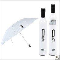 Creative wine bottle umbrella, cool print rain umbrella, ladies three folding sun umbrella, home supple + free shipping