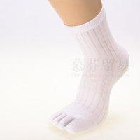 multifuns Wholesale 6Pairs/lot Colors Men's Cotton Five Fingers Toe Socks 5 fingers socks Stockings Free Shipping
