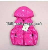 New hot selling item 5pcs/lot new styles kids autumn & winter coat children solid outwears girl boy candy color winter vest