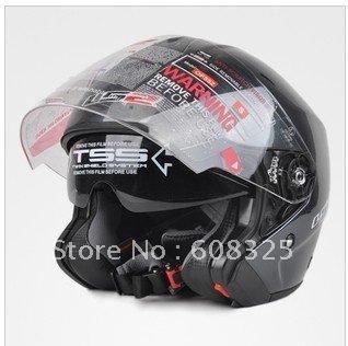 LS2 FRP helmet run helmet motorcycle helmet BanKui double lens helmet double lens BanKui