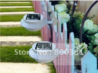 Export  3 led solar wall lamp / door lights / fence lights / garden lights/lawn lamp-free shipping by DHL