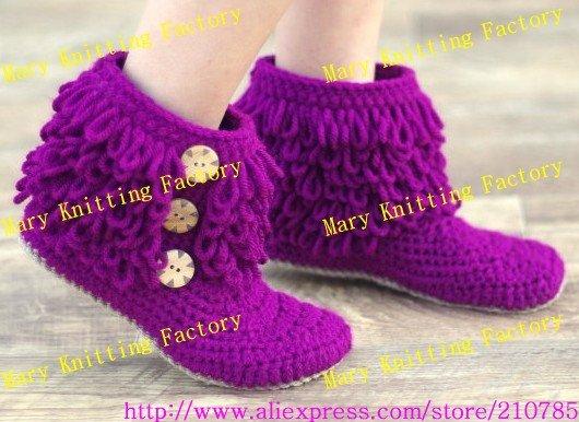 Zapatos Botas Ganchillo Algod Beb