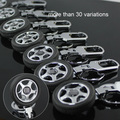 20pcs/lot,Mix Order Spinning Tyre Tire Wheels Series Auto Keyring Keychain Car Key Chain Ring Key Fob,40 styles for Choice