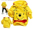 1piece children boys girls pooh hoody sweatshirts coat free shipping top quliaty lower price