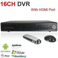 DHLFree Shipping: 16CH Surveillance H.264 HDMI Port Standalone Network CCTV DVR Mobile phone surveillance