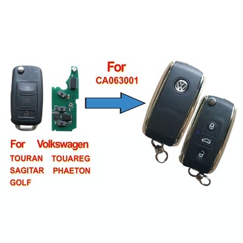 GOOD QUALITY , Volkswagen Phaeton Touareg 3 Buttons Modified Flip Remote Key Shell