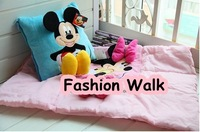 Free shipping 2pcs/lot MICKEY MINNIE pillow cushion plush toy air conditioning blanket birthday gift 2012