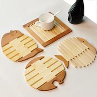 4Pcs Free fish wool mat placemat pot holder disc pads heat insulation pad bowl pad