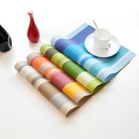 4Pcs Eco-friendly fresh pvc coasters bowl pad dining table mat placemat (30cm*45cm)