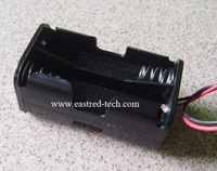 Free Shipping 10pcs 4 x AA size Battery Box/case, Battery Holder, 2 side by side