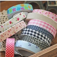 free shipping DIY Album flower cotton cloth tape, stickers home decorative cloth paste