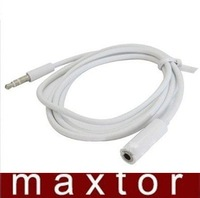 20 FT 3.5mm Aux Male to 3.5mm Female Stereo Audio Sound Cable White Gold Plated