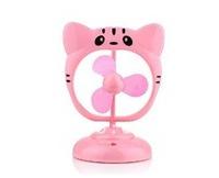 Free Shipping 2Pcs/Lot Portable Cute Cat 360 Degree Rotating Usb Fan Pink Rotary Mini Fan