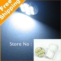 Free Shipping 100pcs white T10 8 SMD Super Bright car led lamp 12v High power auto led bulb Led car lights