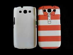 short T-shirt hard plastic cover back case for samsung s3 s 3 i9300 10pcs/lot(China (Mainland))