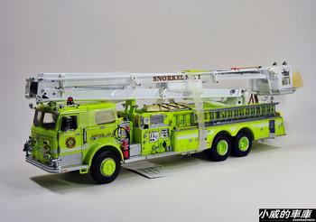 Pierce yellow water pump fire truck