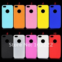 Fashion Circle Silicone Case Cover with Cutting-out ring to Display Logo For iPhone 5 5G, 500pcs/lot, DHL free shipping