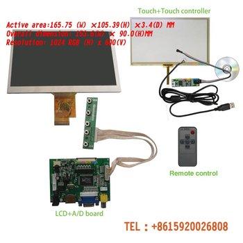 HD 7 INCH  TFT LCD Module + Touch Panel+ HDMI& VGA&2AV A/D Board 1024*600 Resolution CAR PC Display Screen