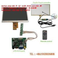 HD 7 INCH  TFT LCD Module + Touch Panel+ HDMI& VGA&2AV A/D Board 1024*600 Resolution CAR PC Display Screen