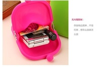Free shipping 2012 Newest Hot sale Korea Cute Rubber Silicone Pouch Purse Wallet Glasses Cellphone Cosmetic Coin Bag Case 100pcs